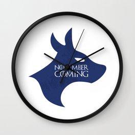 November is Coming Wall Clock