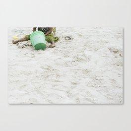 Green Bucket Canvas Print