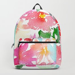 Blooming bouquet #2 || watercolor Backpack