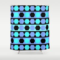 polygon Shower Curtains featuring Polygon by Heaven7