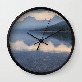 Early Morning at Lake McDonald - Glacier NP Wall Clock