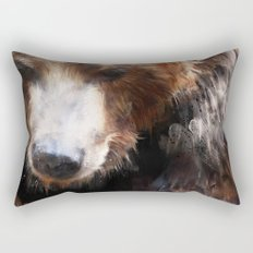 Bear // Gold Rectangular Pillow