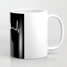 Funny Rugby Ball Heartbeat Line Gift Coffee Mug