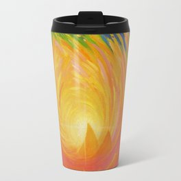"Lotus Abstract Painting, ""Unfoldment"" Travel Mug"