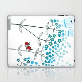 Ladybirds and butterflies and Forget-me-not Laptop & iPad Skin