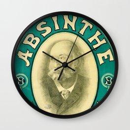 Vintage 1898 Absinthe Blanqui Alcoholic Beverage Advertising Poster Wall Clock