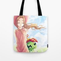 digimon Tote Bags featuring Digimon Dream Mimi by dawnshue