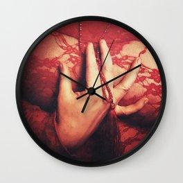 Working girls hands. Wall Clock