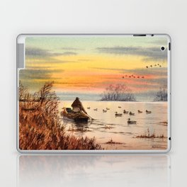 A Great Day For Hunting Ducks Laptop & iPad Skin