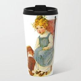 Vintage Girl Baby Doll Travel Mug