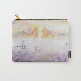 Early Morning Mist Watercolor Painting Carry-All Pouch