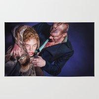 frankenstein Area & Throw Rugs featuring Frankenstein by tillieke