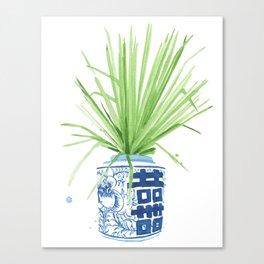 Ginger Jar + Fan Palm Canvas Print