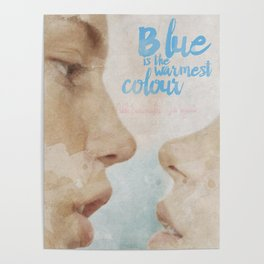 Blue is the warmest colour - chapter one - hand-painted movie poster - Poster