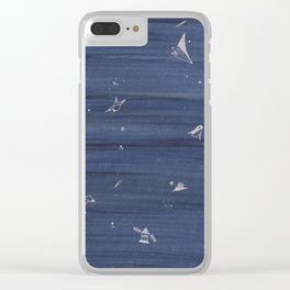 blue space Clear iPhone Case