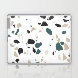Terrazzo White Green Khaki Black Laptop & iPad Skin