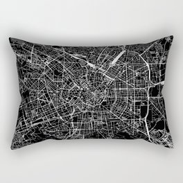Milan Black Map Rectangular Pillow