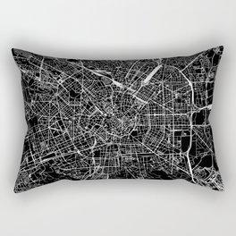 Milan Black Map Rectangular Pillow