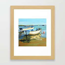 The Blue Boats Framed Art Print