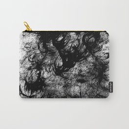 Black Swirly Carry-All Pouch