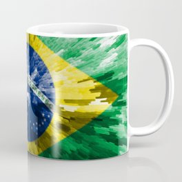 Extruded flag of Brazil Coffee Mug