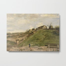 The hill of Montmartre with Stone Quarry Metal Print