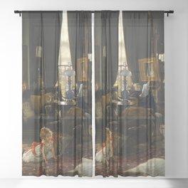 James Tissot - Hide and Seek Sheer Curtain
