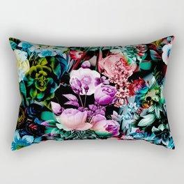 Multicolor Floral Pattern Rectangular Pillow