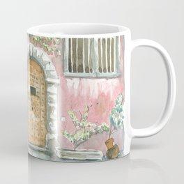 Doors on pink wall, Lyon , France Coffee Mug