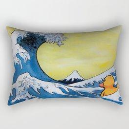 MOUNT FUJI VS RUBBER DUCK Rectangular Pillow