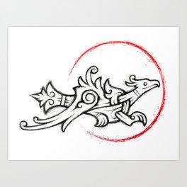 Ringerike Ring Falcon Art Print