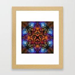 Psychedelic kaleidoscope cloud pattern Framed Art Print
