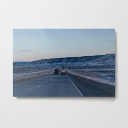 Sunset Highway - Casper, WY Metal Print