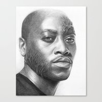 house md Canvas Prints featuring Dr. Foreman-House MD-Omar Epps-Portrait by Olechka