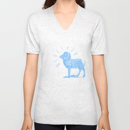RAM TEE LIGHT BLUE Unisex V-Neck