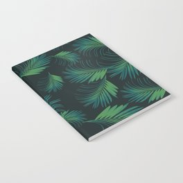 Tropical Night Palms Pattern #1 #tropical #decor #art #society6 Notebook