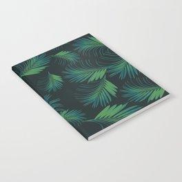 Tropical Night Palms Pattern #1 #tropical #decor #art #society6 Notebook
