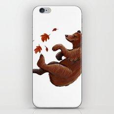 Fall Bear iPhone & iPod Skin
