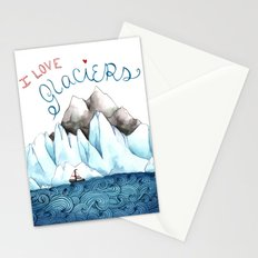 I Love Glaciers Stationery Cards