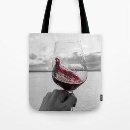 Swirling Red Tote Bag