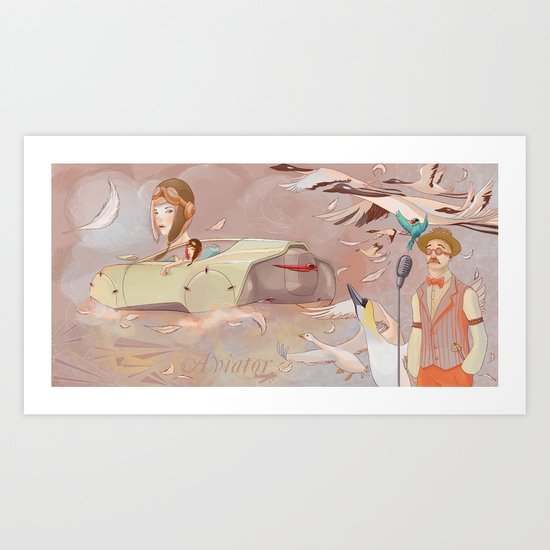 Aviator Night Art Print