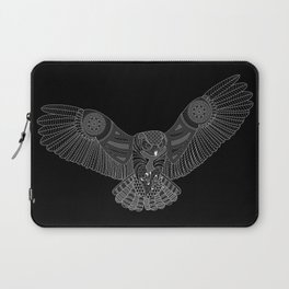 Coloring Book Owl Inverse Laptop Sleeve