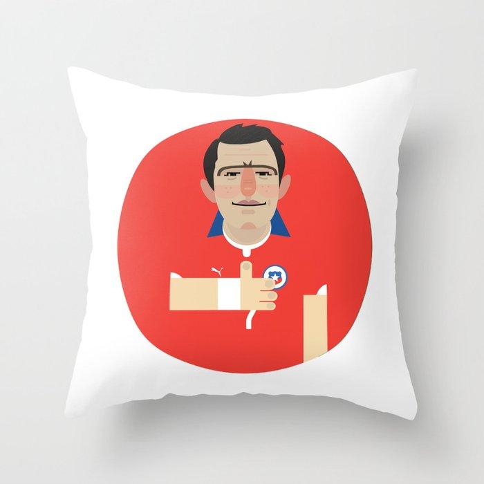 Alexis Sanchez - Chile Throw Pillow