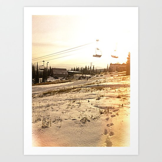 Sunrise Mountain Art Print