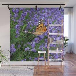 Butterfly Gliding Away Wall Mural