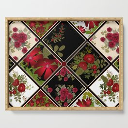 Floral folk patchwork. Ethnic Serving Tray