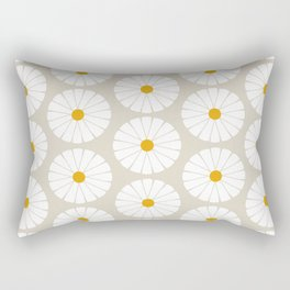 Minimal Botanical Pattern - Daisies Rectangular Pillow