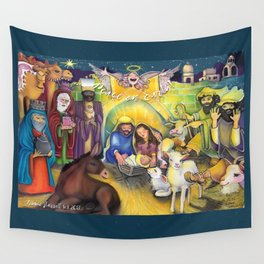 Peace on Earth Nativity Wall Tapestry