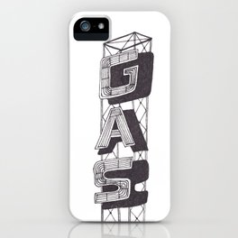 Gas Sign iPhone Case