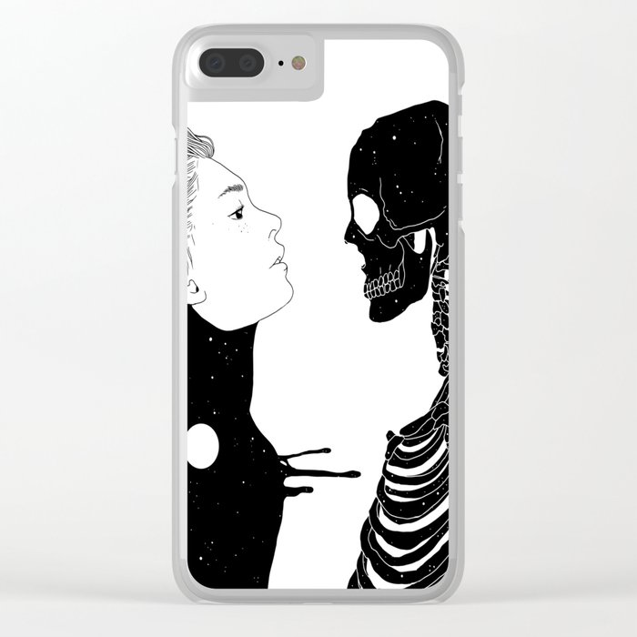 Lost in Existence (Wherever You Are) Clear iPhone Case